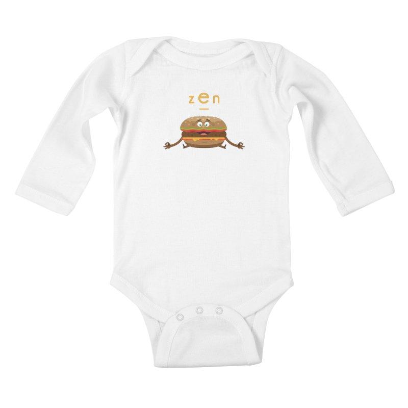 ZEN hamburger Kids Baby Longsleeve Bodysuit by lepetitcalamar's Artist Shop