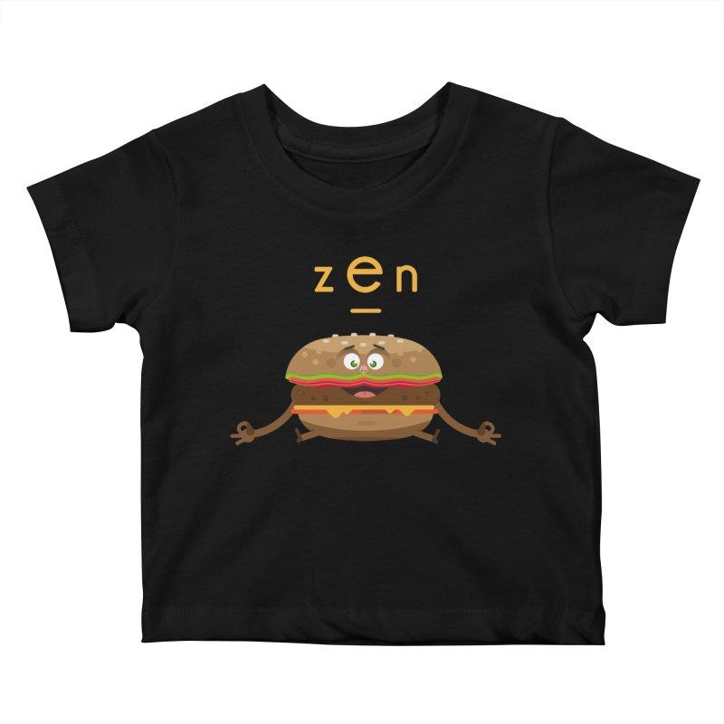 ZEN hamburger Kids Baby T-Shirt by lepetitcalamar's Artist Shop
