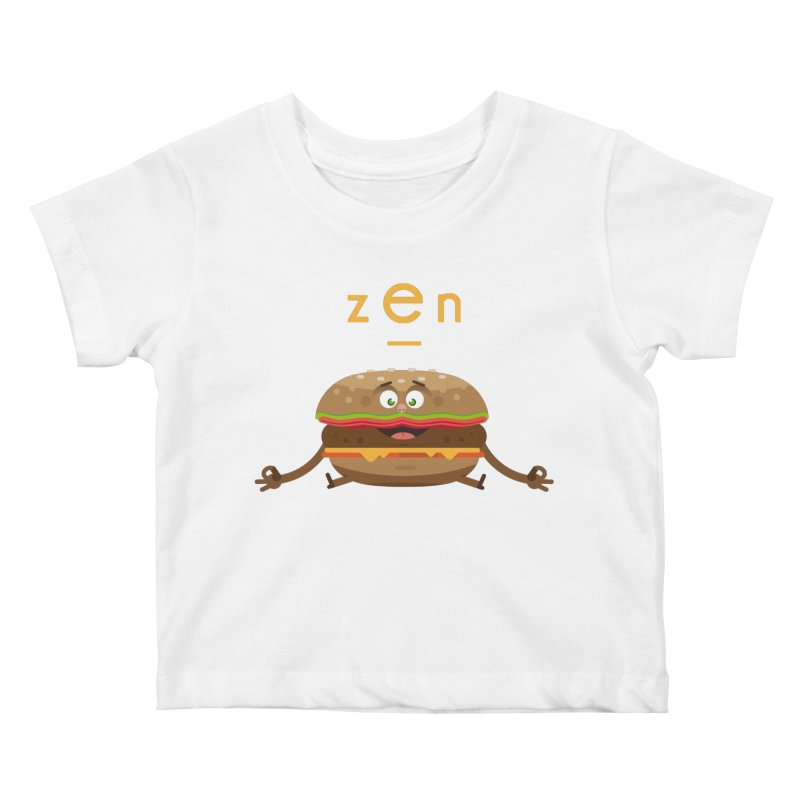 ZEN hamburger Kids Baby T-Shirt by lepetitcalamar's Artist Shop