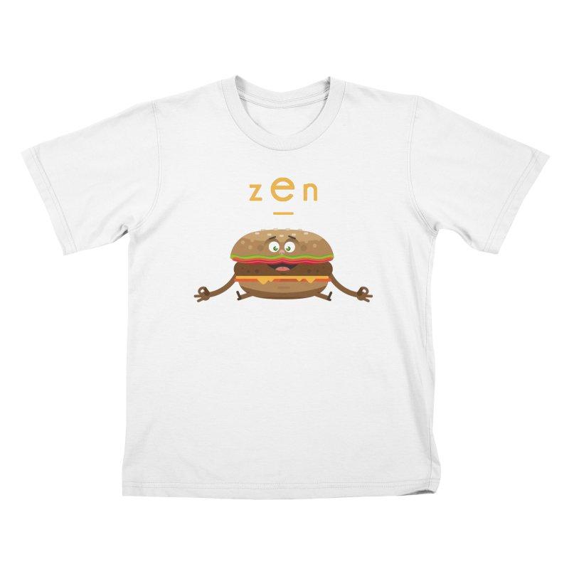 ZEN hamburger Kids T-shirt by lepetitcalamar's Artist Shop