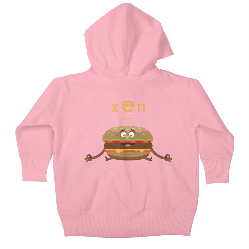 ZEN hamburger Kids Baby Zip-Up Hoody by lepetitcalamar's Artist Shop
