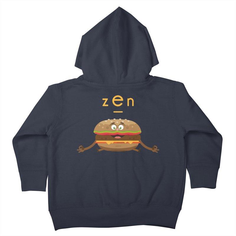 ZEN hamburger Kids Toddler Zip-Up Hoody by lepetitcalamar's Artist Shop