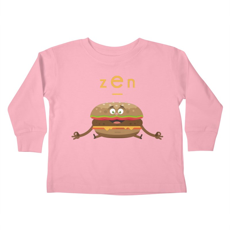 ZEN hamburger Kids Toddler Longsleeve T-Shirt by lepetitcalamar's Artist Shop