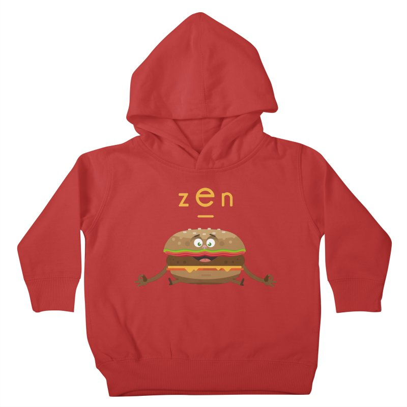 ZEN hamburger Kids Toddler Pullover Hoody by lepetitcalamar's Artist Shop