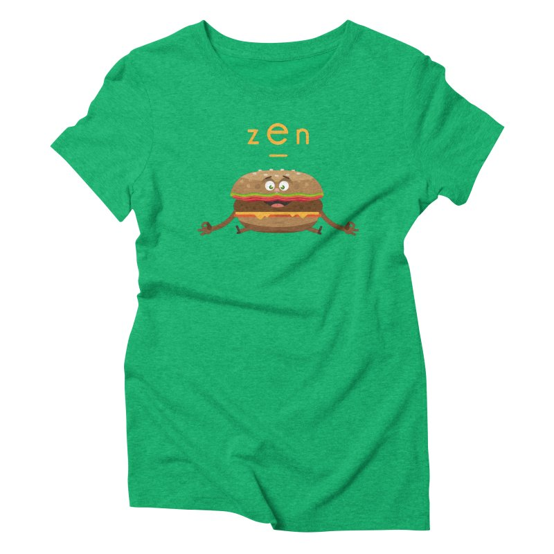 ZEN hamburger Women's Triblend T-shirt by lepetitcalamar's Artist Shop