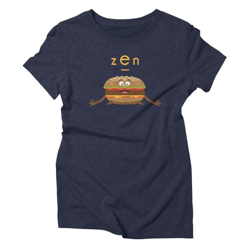 ZEN hamburger Women's Triblend T-shirt by lepetitcalamar's Artist Shop