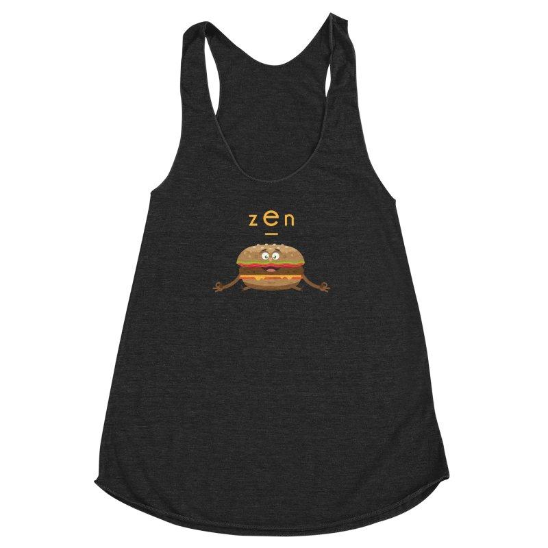 ZEN hamburger Women's Racerback Triblend Tank by lepetitcalamar's Artist Shop