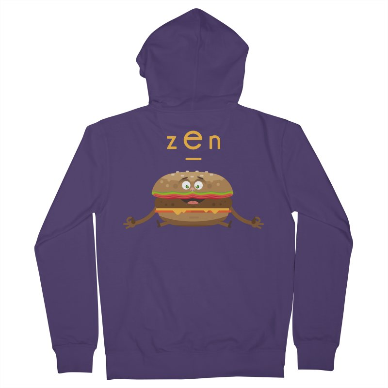 ZEN hamburger Women's Zip-Up Hoody by lepetitcalamar's Artist Shop