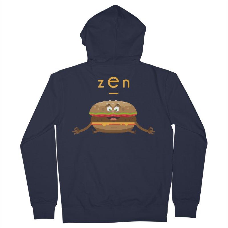 ZEN hamburger Women's French Terry Zip-Up Hoody by lepetitcalamar's Artist Shop