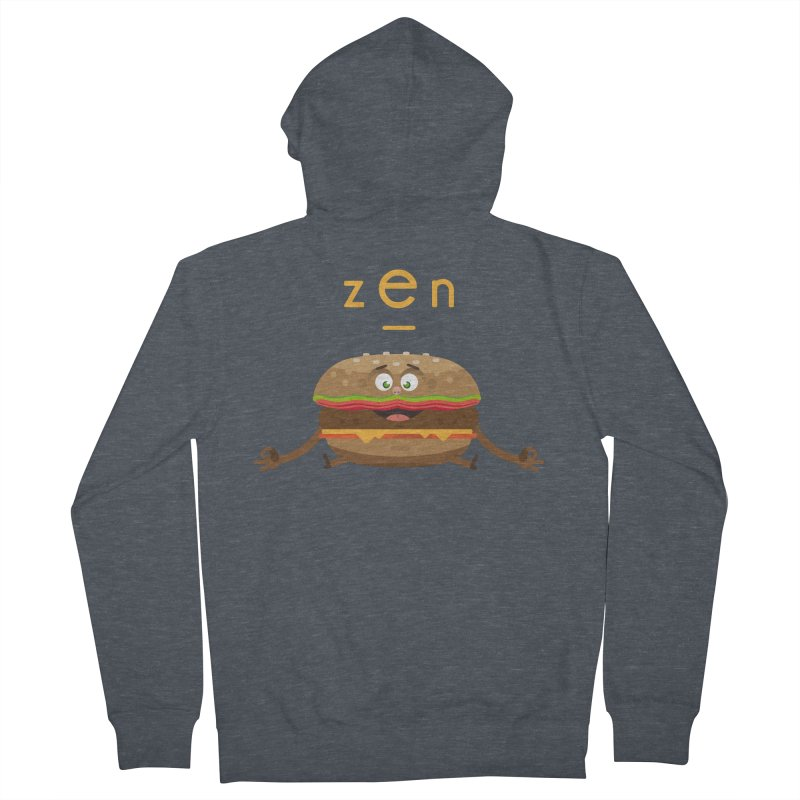 ZEN hamburger Men's Zip-Up Hoody by lepetitcalamar's Artist Shop