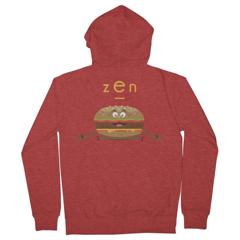 ZEN hamburger Men's French Terry Zip-Up Hoody by lepetitcalamar's Artist Shop