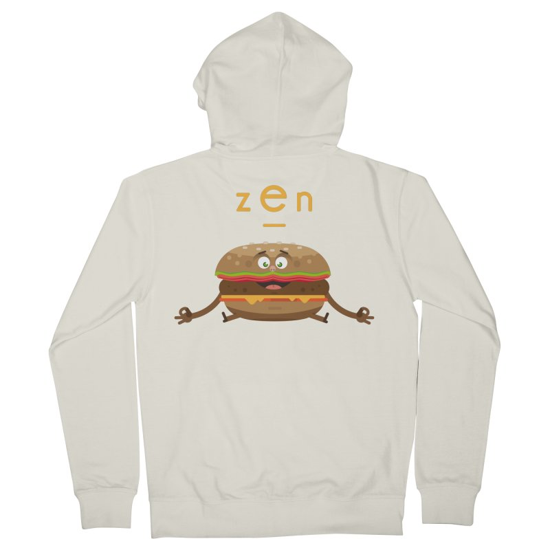 ZEN hamburger Men's French Terry Zip-Up Hoody by lepetitcalamar's Artist Shop