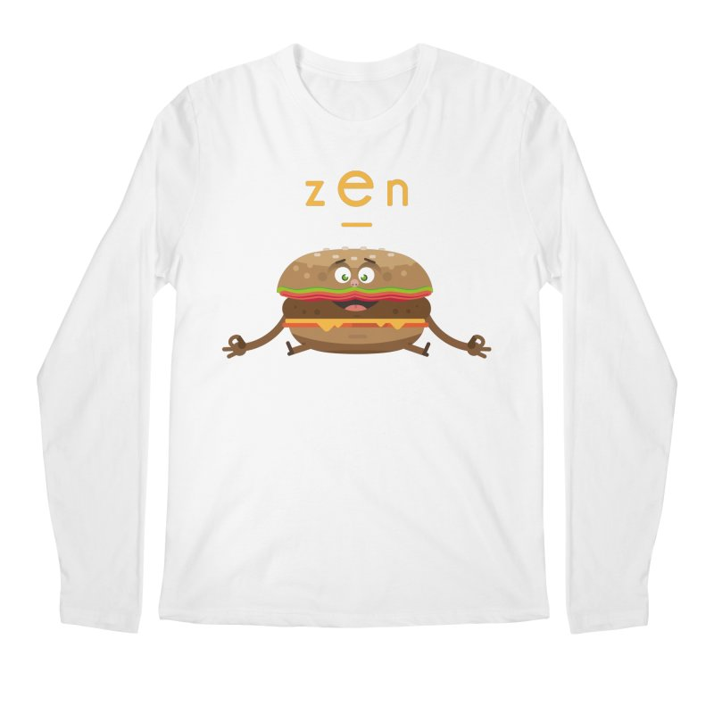 ZEN hamburger Men's Regular Longsleeve T-Shirt by lepetitcalamar's Artist Shop