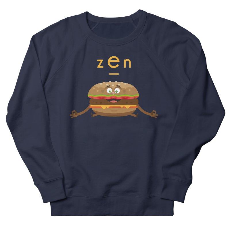 ZEN hamburger Men's French Terry Sweatshirt by lepetitcalamar's Artist Shop