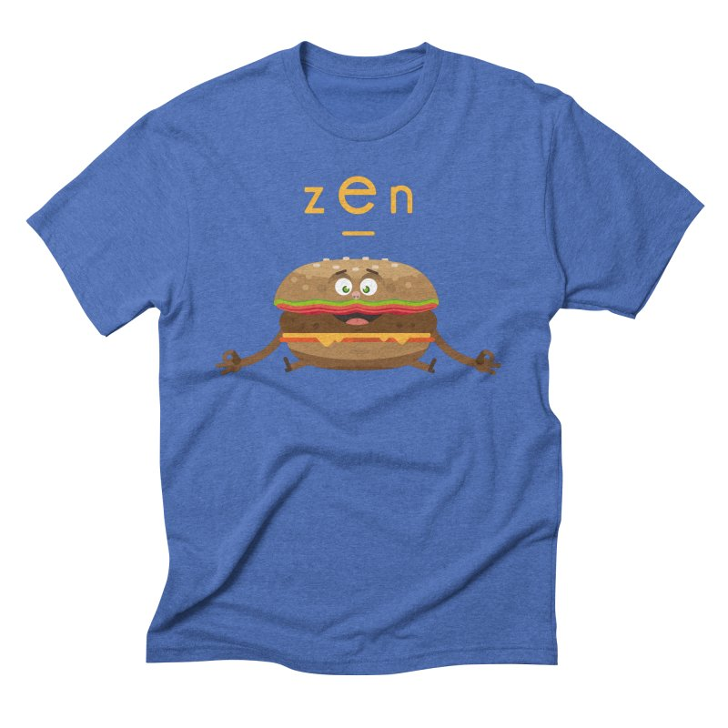 ZEN hamburger in Men's Triblend T-Shirt Blue Triblend by lepetitcalamar's Artist Shop