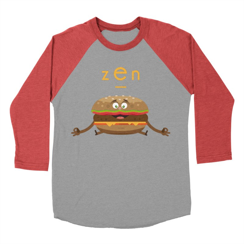 ZEN hamburger Men's Baseball Triblend Longsleeve T-Shirt by lepetitcalamar's Artist Shop