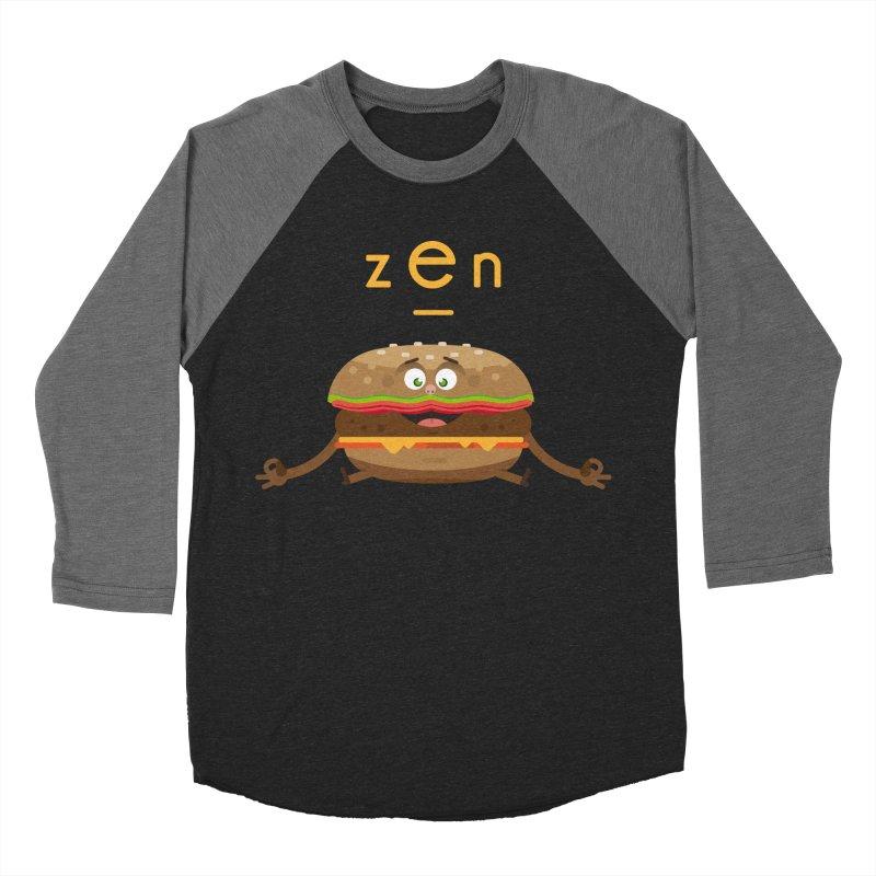ZEN hamburger Men's Baseball Triblend Longsleeve T-Shirt by lepetitcalamar's Artist Shop