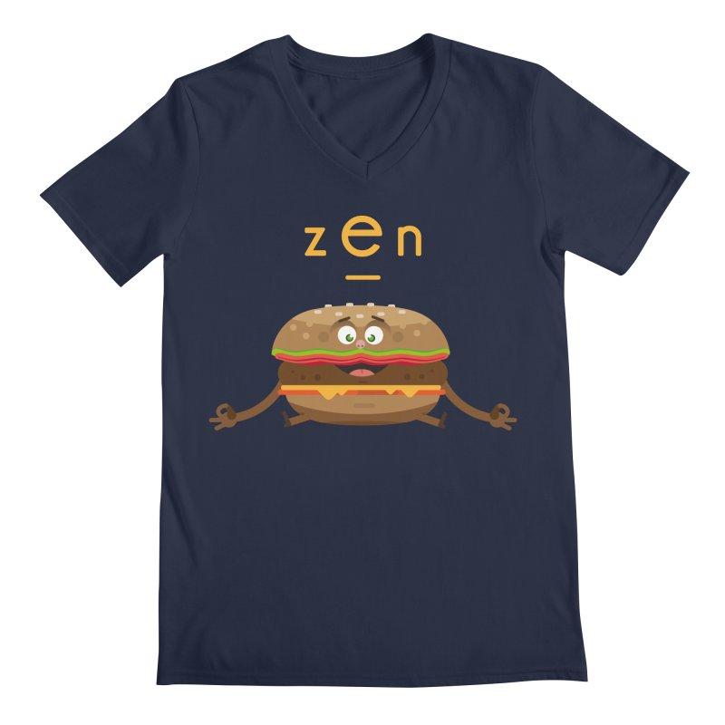 ZEN hamburger Men's Regular V-Neck by lepetitcalamar's Artist Shop