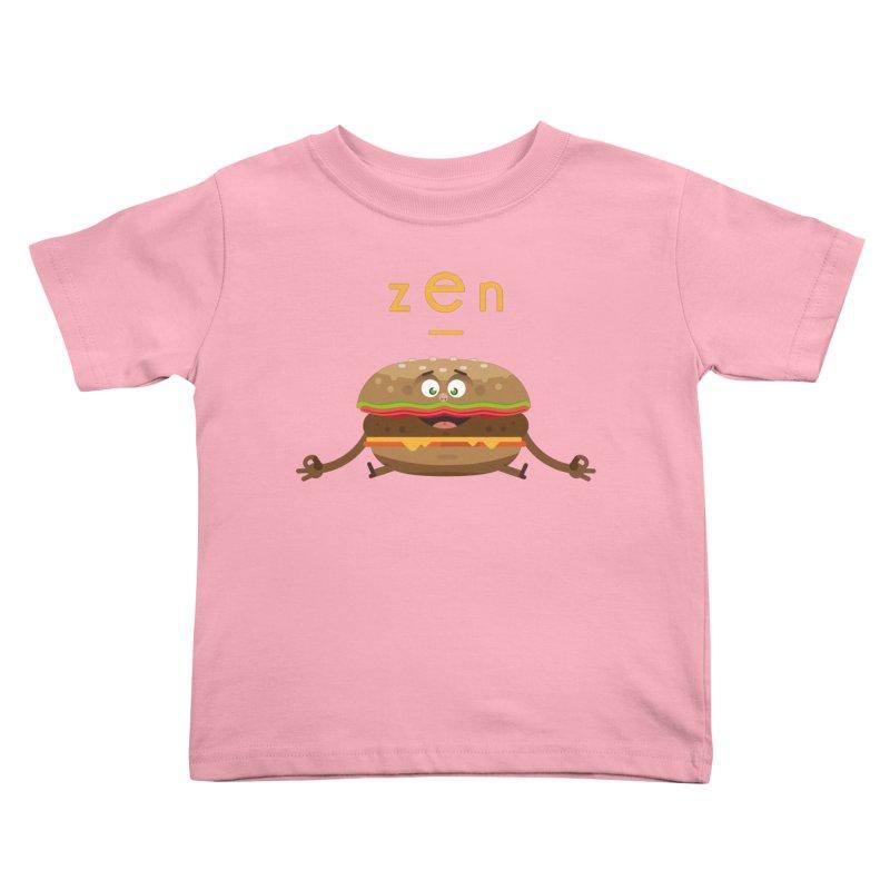 ZEN hamburger Kids Toddler T-Shirt by lepetitcalamar's Artist Shop