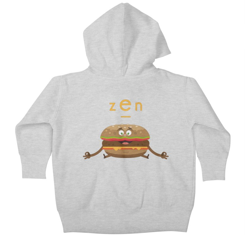 ZEN hamburger Kids Baby Zip-Up Hoody by lepetitcalamar's Artist Shop