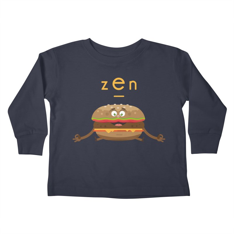 ZEN hamburger Kids Toddler Longsleeve T-Shirt by lepetitcalamar's Artist Shop