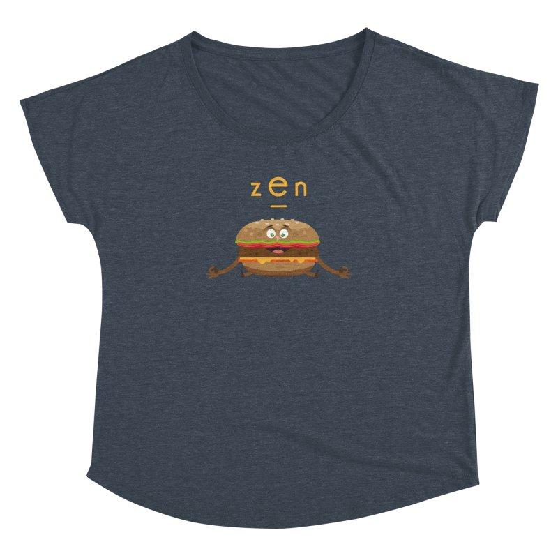 ZEN hamburger Women's Dolman Scoop Neck by lepetitcalamar's Artist Shop