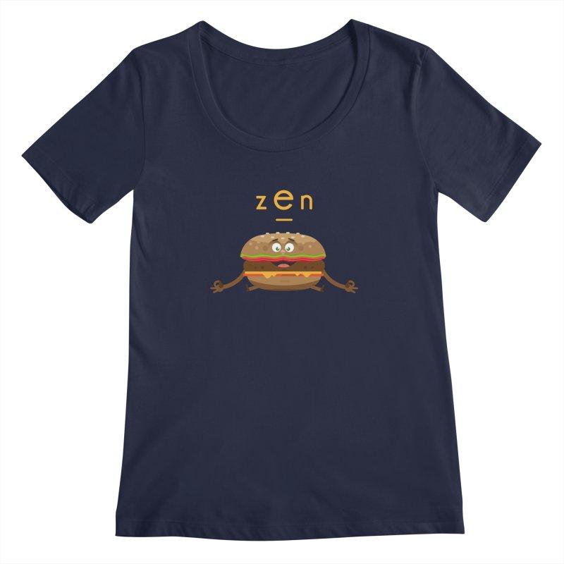 ZEN hamburger Women's Scoopneck by lepetitcalamar's Artist Shop