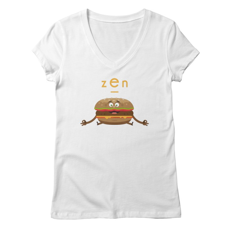 ZEN hamburger Women's Regular V-Neck by lepetitcalamar's Artist Shop