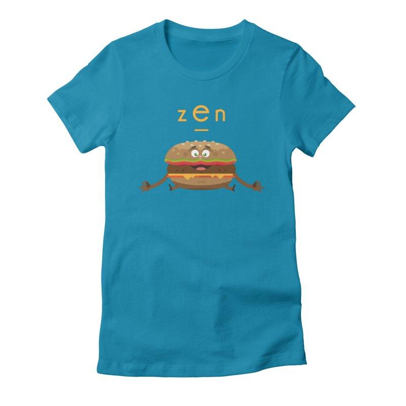ZEN hamburger Women's Fitted T-Shirt by lepetitcalamar's Artist Shop