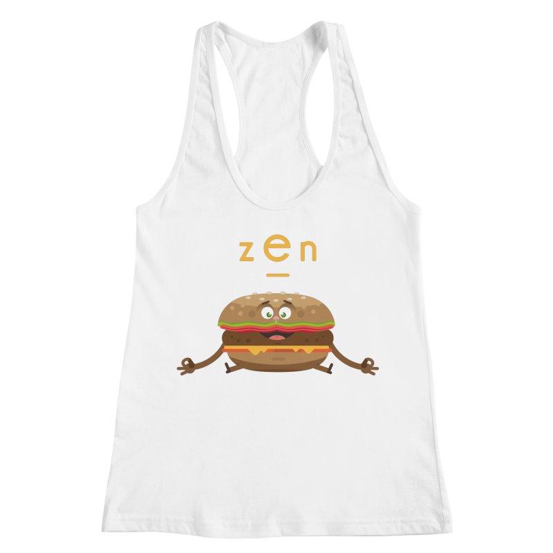 ZEN hamburger Women's Racerback Tank by lepetitcalamar's Artist Shop
