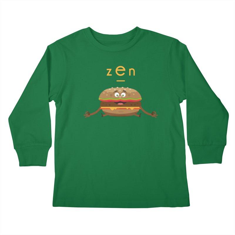 ZEN hamburger Kids Longsleeve T-Shirt by lepetitcalamar's Artist Shop