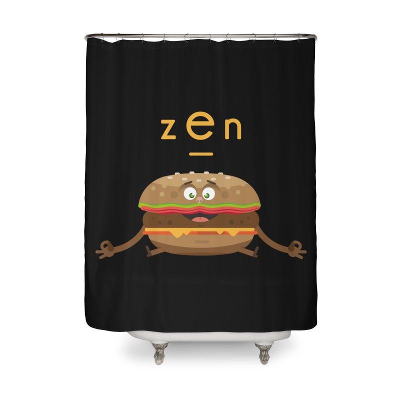 ZEN hamburger Home Shower Curtain by lepetitcalamar's Artist Shop