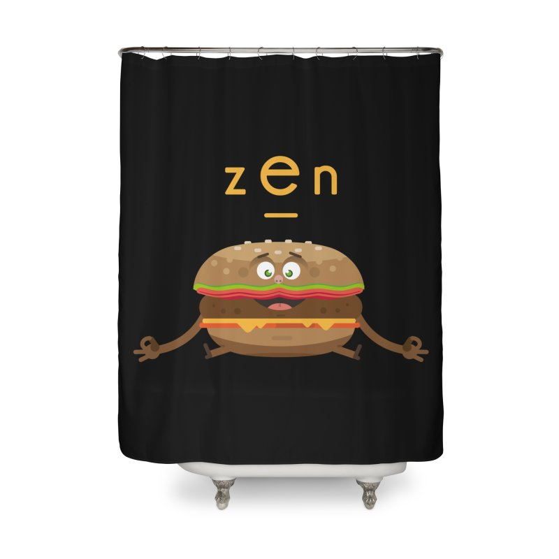 ZEN hamburger Home Shower Curtain by lepetitcalamar's Artist Shop