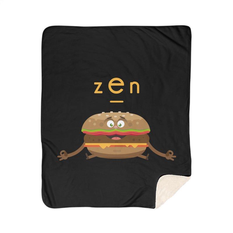 ZEN hamburger Home Sherpa Blanket Blanket by lepetitcalamar's Artist Shop