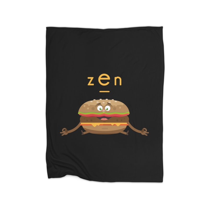 ZEN hamburger Home Fleece Blanket Blanket by lepetitcalamar's Artist Shop