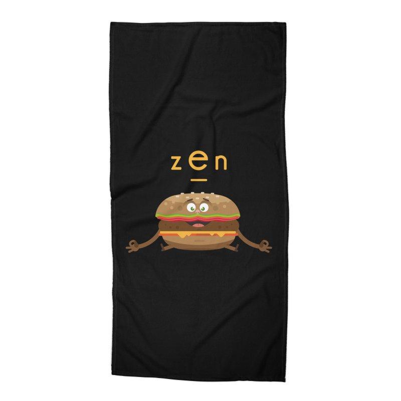 ZEN hamburger Accessories Beach Towel by lepetitcalamar's Artist Shop