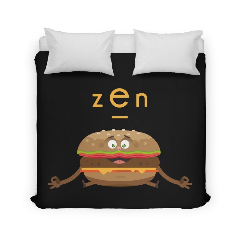 ZEN hamburger Home Duvet by lepetitcalamar's Artist Shop