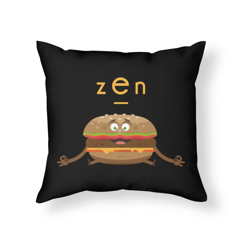 ZEN hamburger Home Throw Pillow by lepetitcalamar's Artist Shop