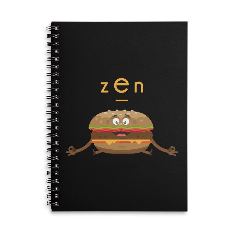 ZEN hamburger Accessories Lined Spiral Notebook by lepetitcalamar's Artist Shop