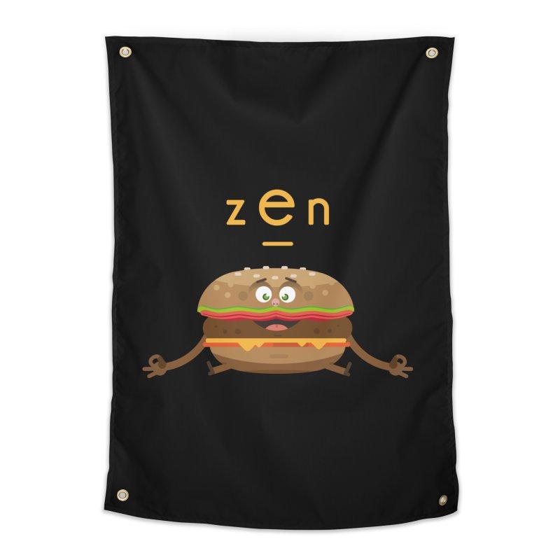 ZEN hamburger Home Tapestry by lepetitcalamar's Artist Shop