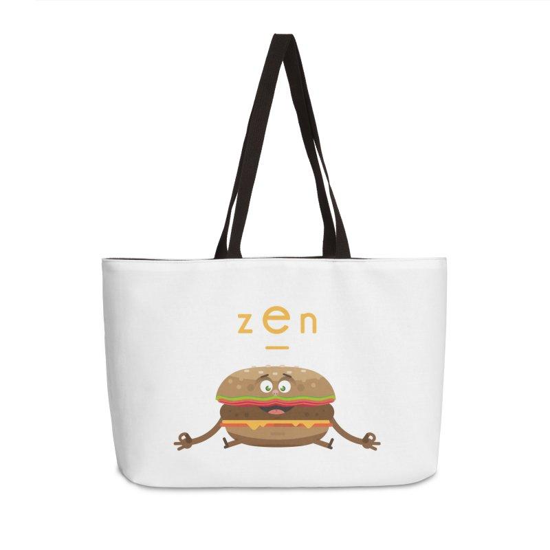 ZEN hamburger Accessories Weekender Bag Bag by lepetitcalamar's Artist Shop