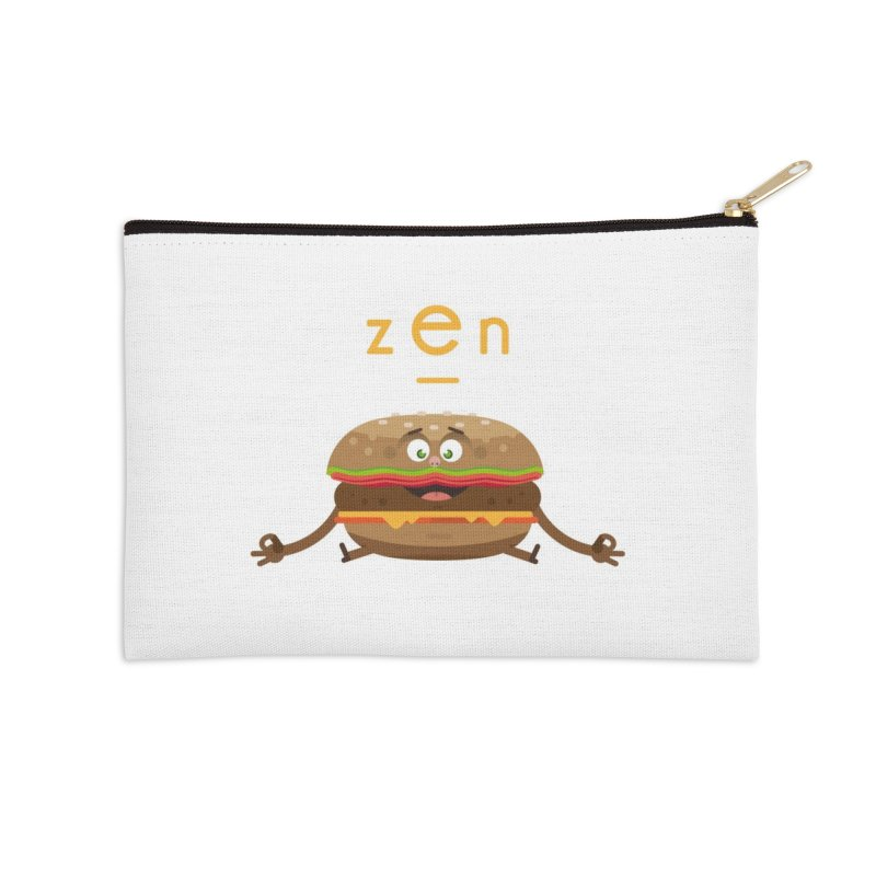 ZEN hamburger Accessories Zip Pouch by lepetitcalamar's Artist Shop