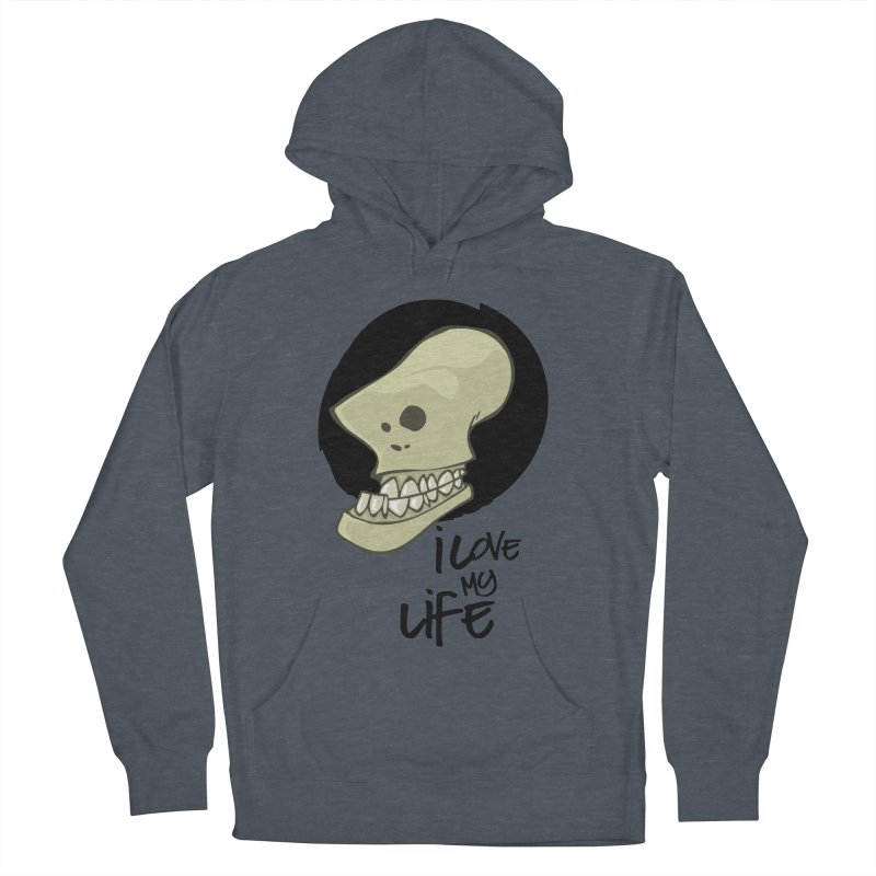 I love my life Men's French Terry Pullover Hoody by lepetitcalamar's Artist Shop