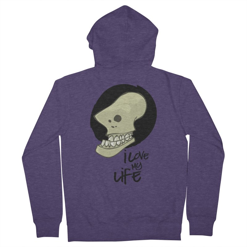 I love my life Men's Zip-Up Hoody by lepetitcalamar's Artist Shop