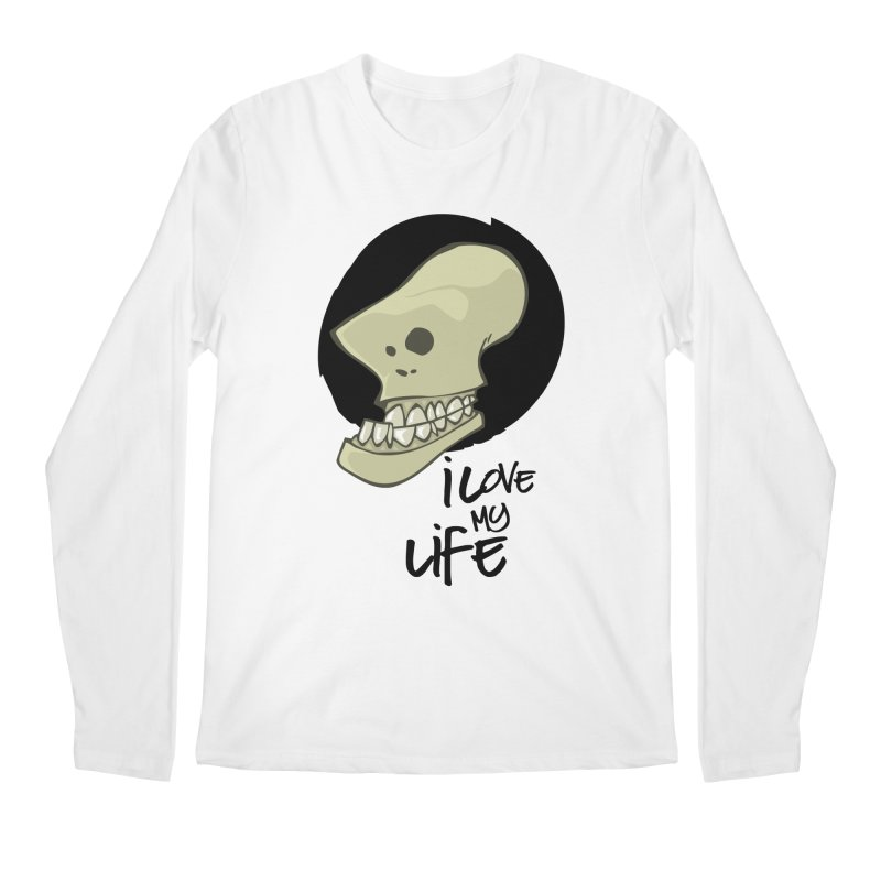 I love my life Men's Regular Longsleeve T-Shirt by lepetitcalamar's Artist Shop