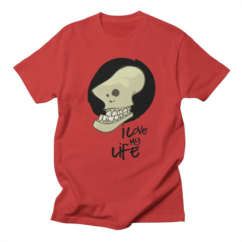 I love my life Men's Regular T-Shirt by lepetitcalamar's Artist Shop
