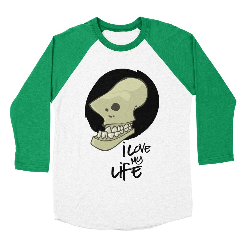 I love my life Women's Baseball Triblend T-Shirt by lepetitcalamar's Artist Shop