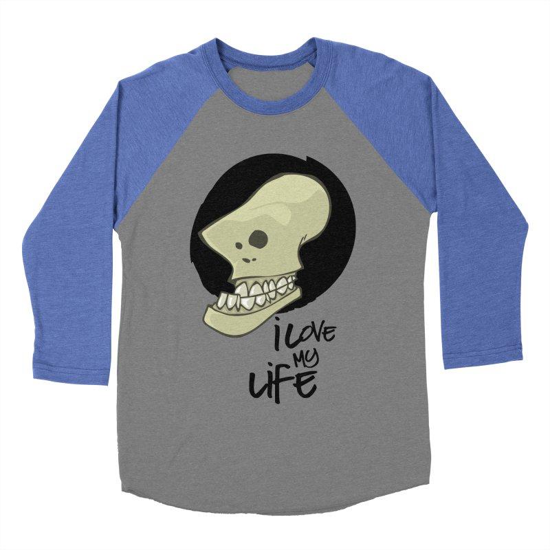I love my life Men's Baseball Triblend T-Shirt by lepetitcalamar's Artist Shop