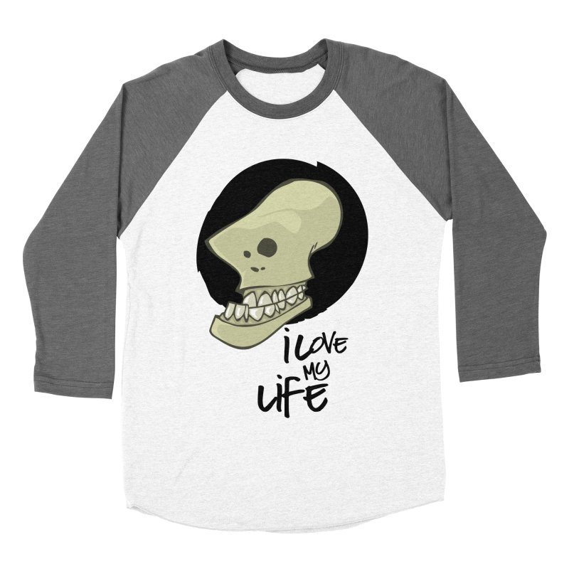 I love my life Men's Baseball Triblend Longsleeve T-Shirt by lepetitcalamar's Artist Shop