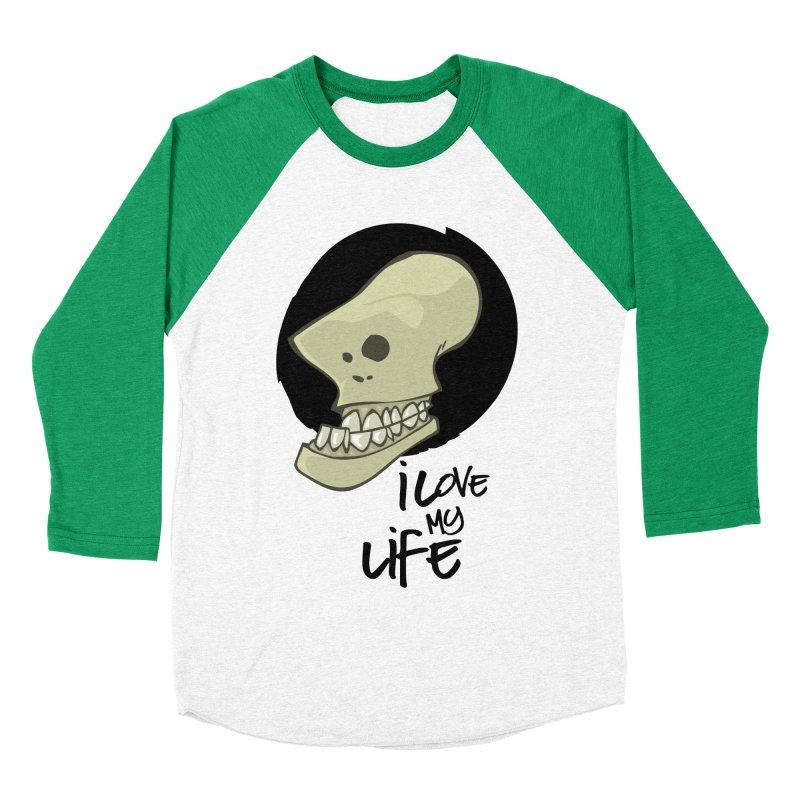 I love my life Men's Baseball Triblend Longsleeve T-Shirt by lepetitcalamar's Artist Shop